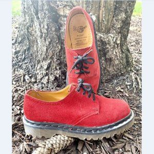 Doc Martens Made in England Red Low Top Shoes 6